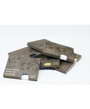 Piešimo kortelės Haikucards dėžutėje, 106.5x147mm, 300gsm, 24vnt., juodos spalvos