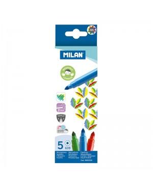 Flomasteriai Milan 5 spalvų