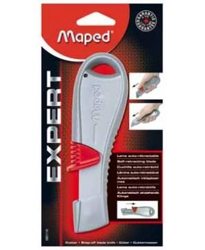 Kanceliarinis peilis Maped Expert Self-retractable metal, kabinamoje plokštelėje