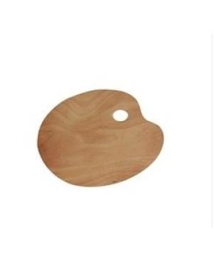 Medinė paletė ovalo formos 32x23cm