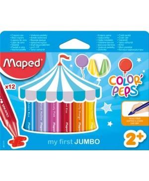 Vaškinės kreidelės Maped Color Peps Maxi 12 vnt
