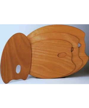 Paletė medinė Mabef 25x35 cm, ovali, medinė impregnuota