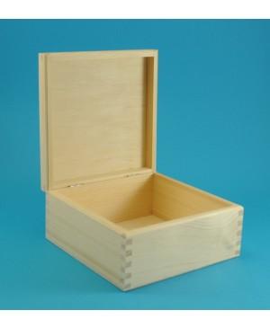 Dėžutė medinė kvadratinė, 16.5 x 16.5 x 8 cm