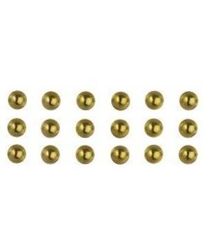 Karoliukas su plokščia nugarėle 3mm, 120vnt, lipnus, auksinis