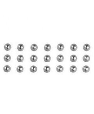Karoliukas su plokščia nugarėle 3mm, 120vnt, lipnus, sidabrinis