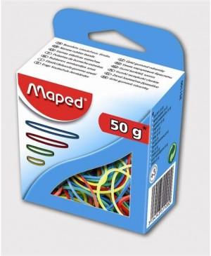 Gumelės Maped įvairių spalvų ir dydžių dėžutėje 50g