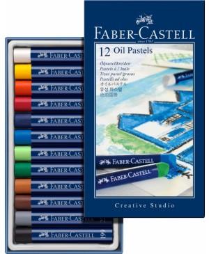 Pastelė aliejinė Faber-Castell, 12 spalvų