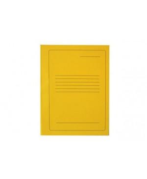 Segtuvėlis kartoninis A4 su įsegėle 300g, geltonas