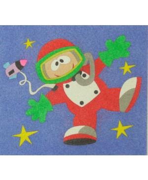 Eskizas smėlio tapybai Astronautas 20x18cm
