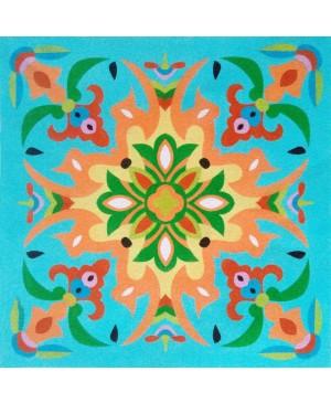 Eskizas smėlio tapybai 38x46cm, Mandala 4