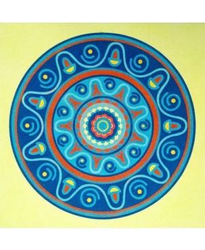 Eskizas smėlio tapybai 38x46cm, Mandala 10