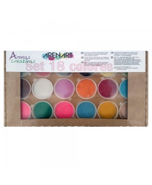 Spalvoto smėlio rinkinys Arenart, 18 spalvų dėžutėje