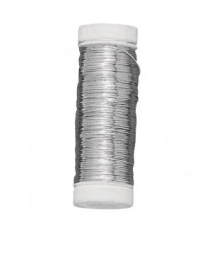 Vielutė sidabruota, storis 0,3mm, sidabro spalvos, 50m