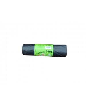 Maišai šiukšlėms LDPE Patikimi 240 l , 5 vnt rulonėlyje