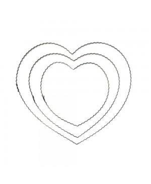 Širdis banguotos vielos, 20cm, 1vnt.