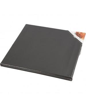 Drobė ant porėmio, 30x30cm, juoda, 1 vnt.