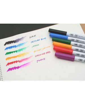Rašikliai teptukiniai ZIG Clean Color Real Brush, 6 spalvos
