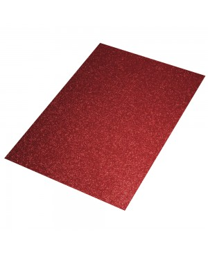 Putgumės lakštas 30x40cm, 2mm blizgi raudona