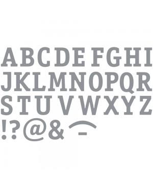Lipdukai kontūriniai Skaičiai, 10x23cm, sidabro sp.