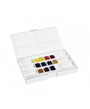 Akvareliniai dažai Fine, 12 spalvų