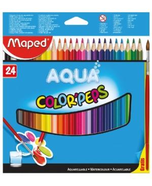 Spalvoti akvareliniai pieštukai Maped Color Peps AQUA 24 spalvos
