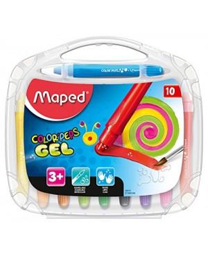 Gelinės kreidelės Maped Color'Peps Gel 10 spalvų
