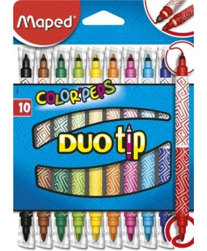 Flomasteriai Maped Color Peps Long Life Duo Tip 10 spalvų