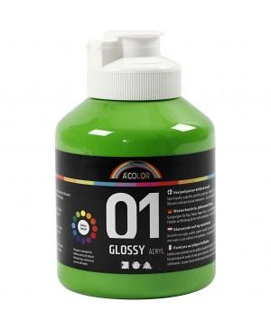 Akrilo dažai A-Color, blizgūs, 500ml, žalia šviesi