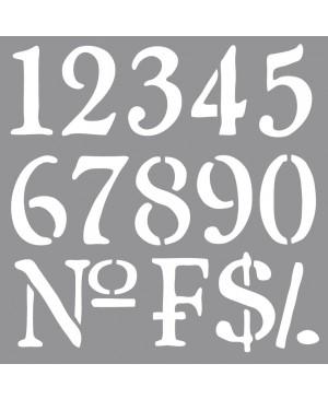 Trafaretas Numbers, 30.5x30.5cm