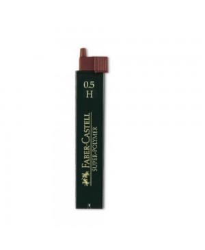 Grafito šerdelės Faber Castell automatiniam pieštukui, H, diam. 0.5 mm, ilgis 60mm, 12 vnt. dėžutėje
