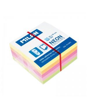 Lipnūs lapeliai užrašams kube Milan Neon, 50x50mm, 250l.