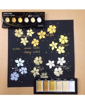 Akvarelė Gansai Tambi Starry Colors 6 spalvų