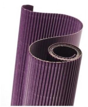 Gofruotas kartonas  50x70cm (45), tamsiai violetinės sp.