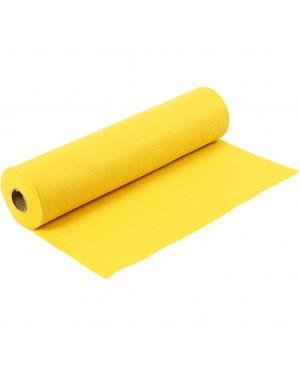 Sintetinis veltinis - filcas 1,5 mm storio, 45 cm pločio, 1 m, geltonos sp.