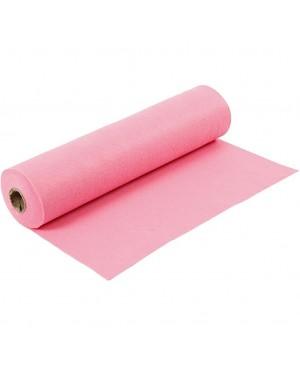 Sintetinis veltinis - filcas 1,5 mm storio, 45 cm pločio, 1 m, ryškios rožinės sp.