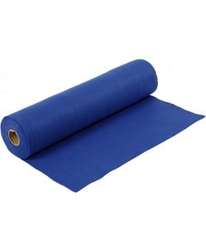 Sintetinis veltinis - filcas 1,5 mm storio, 45 cm pločio, 1 m, tamsiai mėlynos sp.
