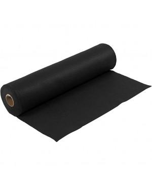 Sintetinis veltinis - filcas 1,5 mm storio, 45 cm pločio, 1 m, juodos sp.