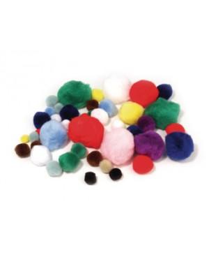 Pūkuoti kamuoliukai, įvairūs, 100vnt