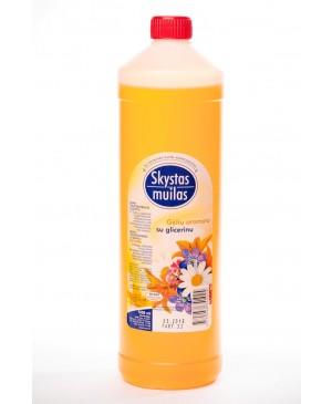 Skystas muilas su glicerinu gėlių aromato 1000 ml.