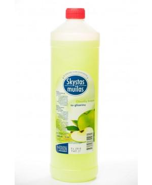 Skystas muilas su glicerinu obuolių kvapo, 1000 ml.