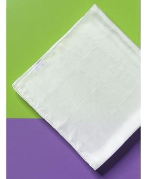 Šilko skarelė Ponge 5, balta 90x90cm