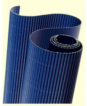 Gofruotas kartonas  50x70cm (51), tamsiai mėlynos sp.