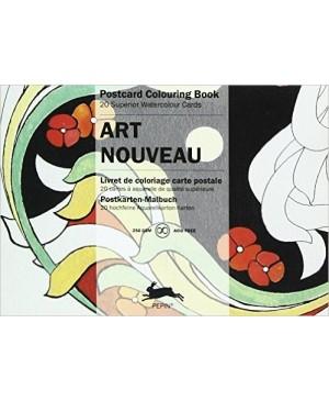 Atvirukai meniniam spalvinimui Art Nouveau, 20vnt