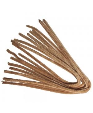 Šenilo vielos strypeliai 9mm storio, ilgis 50cm, 10vnt., šviesiai rudi
