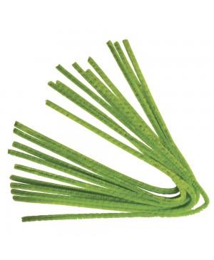 Šenilo vielos strypeliai 9mm storio, ilgis 50cm, 10vnt., žalia