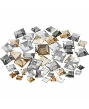Kristalai blizgūs kvadratiniai, 6-9-12mm, 360vnt, gelsvi tonai