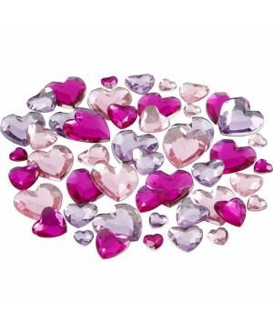 Kristalai blizgios širdelės, 6-9-12mm, 252vnt, rausvi-alyviniai tonai