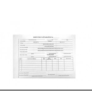 Krovinio važtaraštis A5 SC (savekopijuojantys), 50 kompl. po 2 lapus
