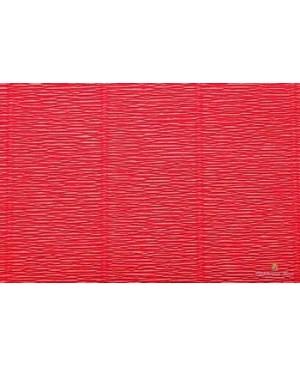 Krepinis popierius 50 cm x 2,5 m, 180 g/m², intensyvi rausvai oranžinė (580)