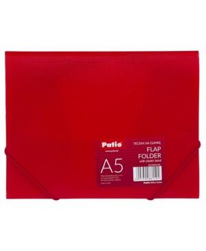 Plastikinis aplankas Patio su gumele A5, raudonas